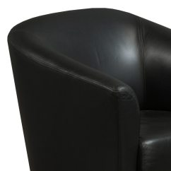 Black Leather Reception Chairs 2 Table And Steelcase Jenny Chair 04