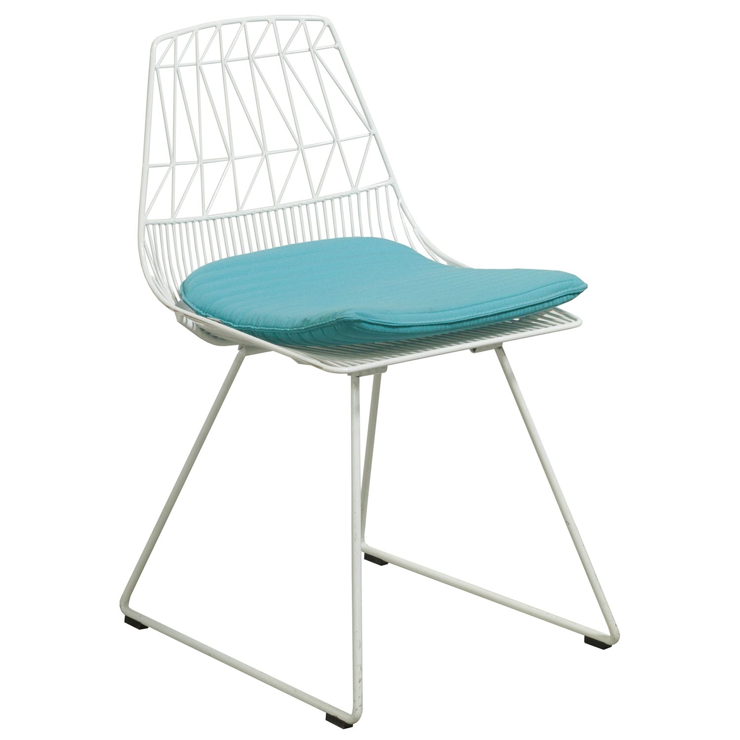 aqua desk chair canvas beach chairs bend lucy used side white and national