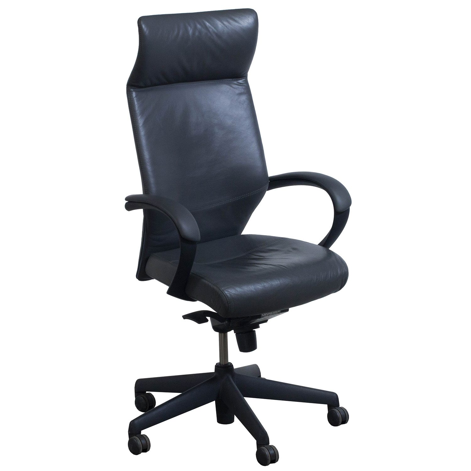 Used High Chairs Keilhauer Tom Used Leather High Back Executive Chair Gray