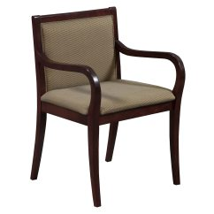 Office Side Chairs Barrel Chair Covers Used Wood Mahogany Gold Fabric National