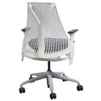 Herman Miller Sayl Used White Back Task Chair, Gray Seat