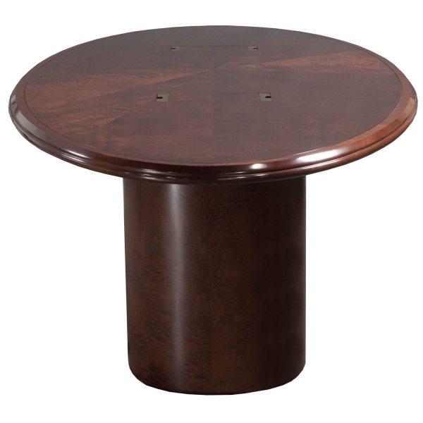 10 Foot Used Veneer Oval Conference Table Walnut - National Office Interiors And Liquidators