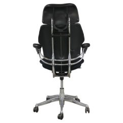 Freedom Task Chair With Headrest Patio Bar Height Chairs Humanscale Used High Back W Black