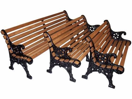 commercial cast aluminum park benches