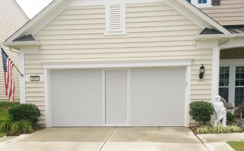 Lifestyle Garage Door Screen Reviews Lifestyle White & Black Privacy Super Screen With Center