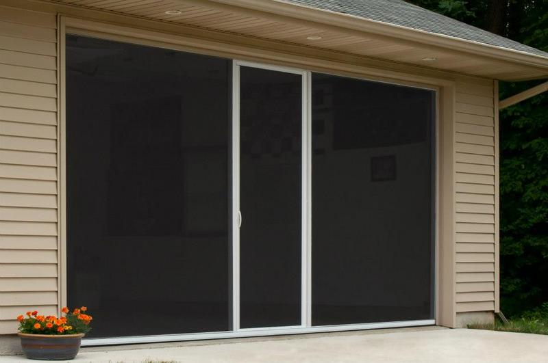 Lifestyle Garage Door Screen Reviews Lifestyle Standard Fiberglass Screen With Center Door 6