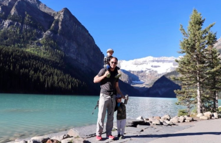 HIking with Kids at Banff National Park