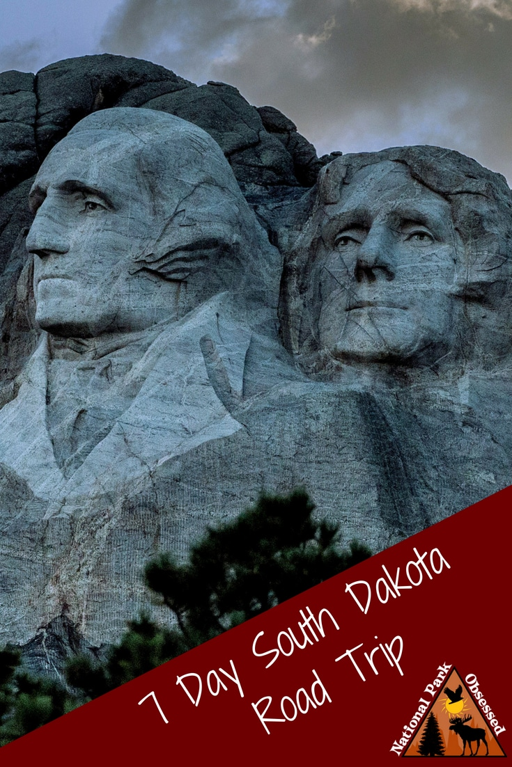 The Black Hills of South Dakota is the prefect place to do a week long road trip.  The region is full of outdoor adventures from caves to wildlife to hiking.  The region is more than just Mount Rushmore.  Here is the prefect itinerary for a South Dakota Road Trip.  #mountrushmore #badlands #windcave #jewelcave #nationalparks #findyourpark #roadtrip