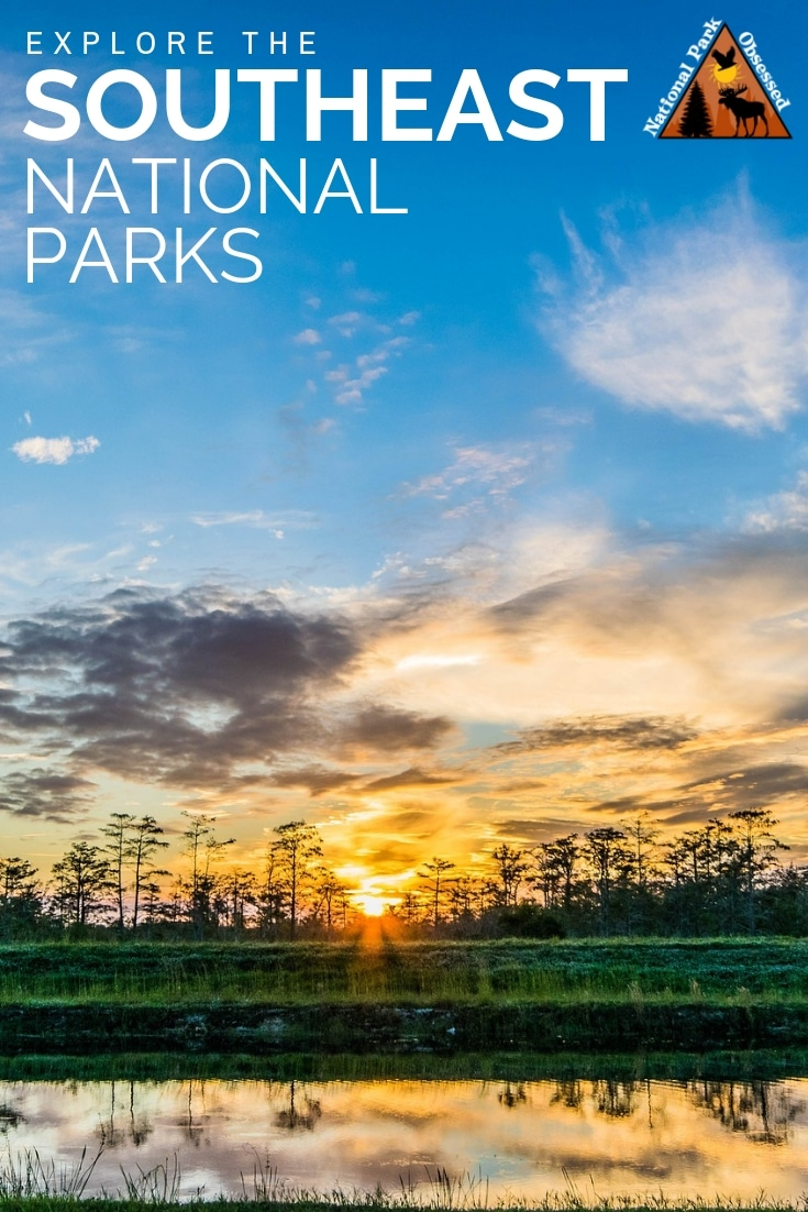 The Southeasten Region of the United States is home to 72 national park service sites. Here is a complete list of the national parks of the southeast. #findyourpark