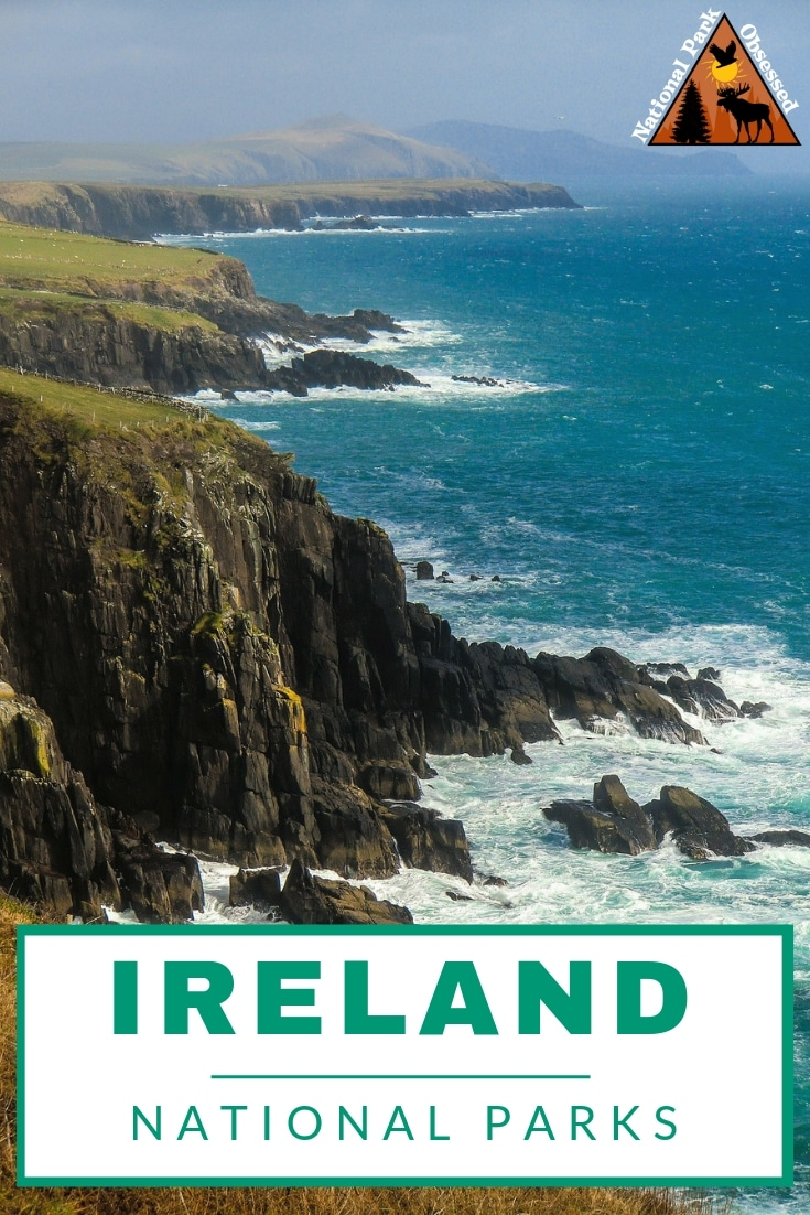 Ireland is well known for its lush green landscape. The National Parks of Ireland showcase this lush and varied landscapes.  The parks protect part of Ireland\'s rich history.  #nationalparks #nationalpark #ireland #findyourpark #nationalparkobsessed