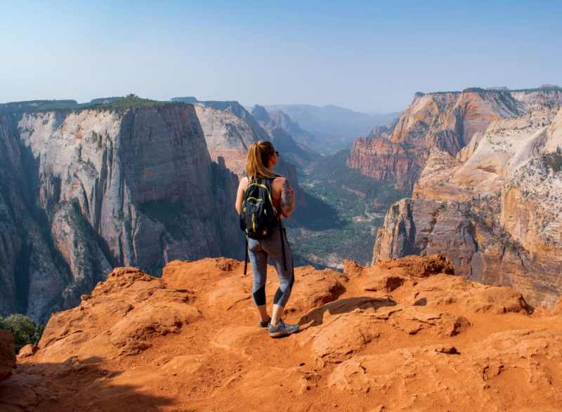 View of Angel's Landing from Observation Point