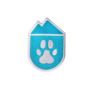 national park paws embroidered sky blue iron on patch