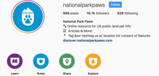 national park paws instagram