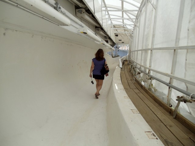 Walking down the Olympic Bobsled Run