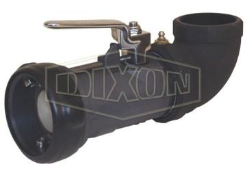 Dixon Bayonet Style Dry Disconnect 90° Swivel Coupler x Female NPT