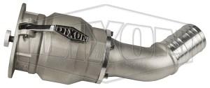 """Dixon® Vapor Recovery Coupler w/ 45° Hose Shank, 4"""" x 3"""""""