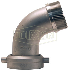 Stainless Steel Railroad Tank Car Connection Male NPT Elbow