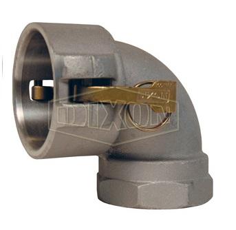 "1.5"" Aluminum 90° Type D Coupler x Female NPT Elbow"
