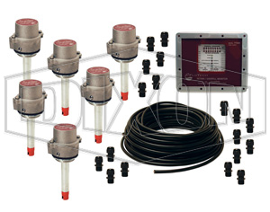 """FloTech Checkmate Overfill Detection System, 6 Compartment, 7"""" Probe"""