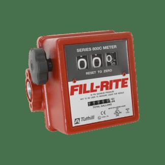 """Fill Rite 807CL1 1"""" 3-Wheel Mechanical Liter Meter"""