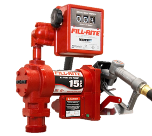 Fill Rite FR1210GA 12 Volt DC Pump with Hose, Manual Nozzle and Meter