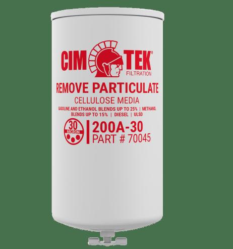 "CimTek 200A-30 Series 1"" Filter w/ Drain"