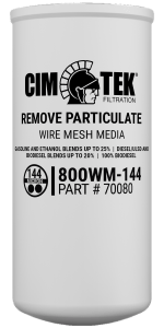 CimTek 800WM-144 Wire Mesh Particulate Filter