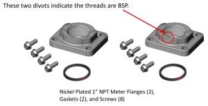 """Fill Rite 1"""" BSPT Meter Flange Kit for 900 Series Meters"""