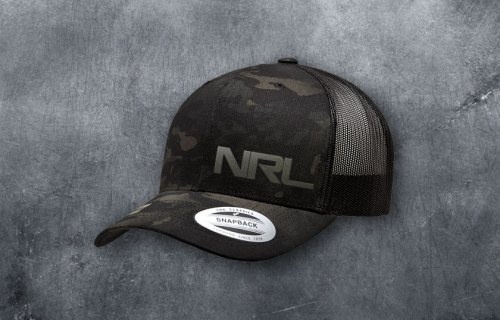 NRL Black Multicam Snapback
