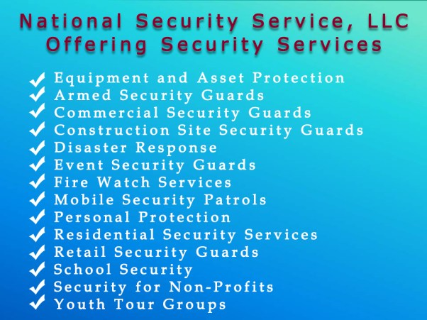 2 Security Guard Services