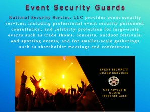 4 Event Security Guards