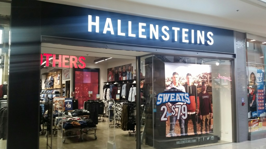hallensteins 3d led illuminated signage acrylic fabricated letters