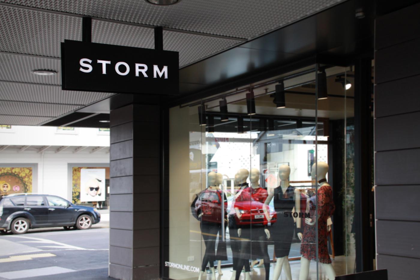 storm ponsonby under vernda lightbox signage