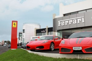 continental cars ferrari 3d illuminated fascia signage roadside pylon