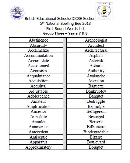 2018 List