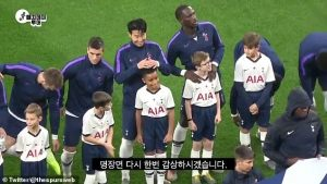 Fans Hails Son Heung-Min After He Shelters Mascot From Rain