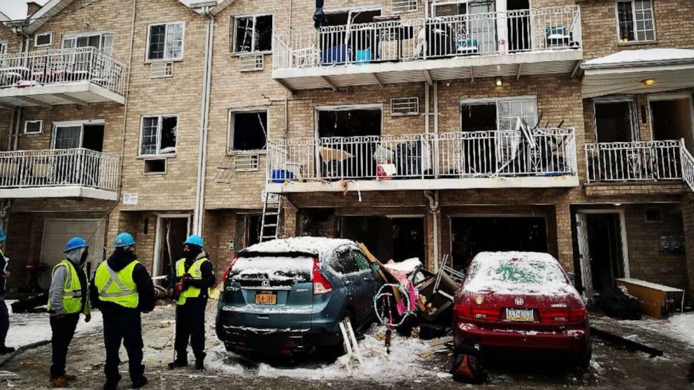 Gas explosion at Bronx apartment leaves nine injured, including two children
