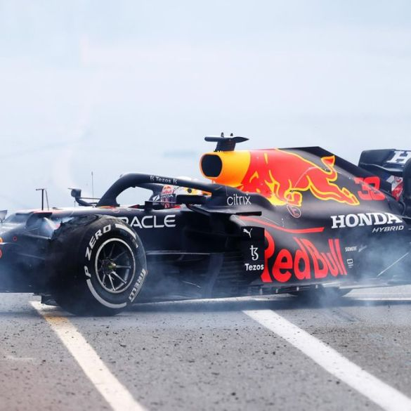 Max Verstappen crashes out of Azerbaijan Grand Prix just four laps from race victory