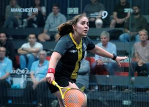 Tesni Evans in action