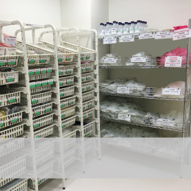 Shelving and storage solutions for healthcare