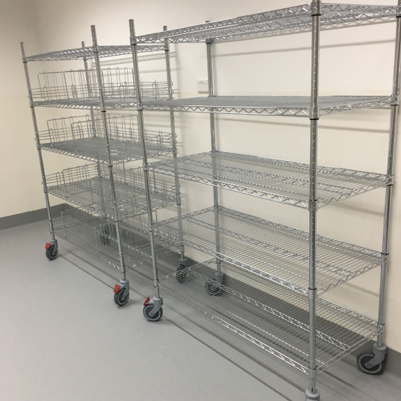 chrome wire trolleys