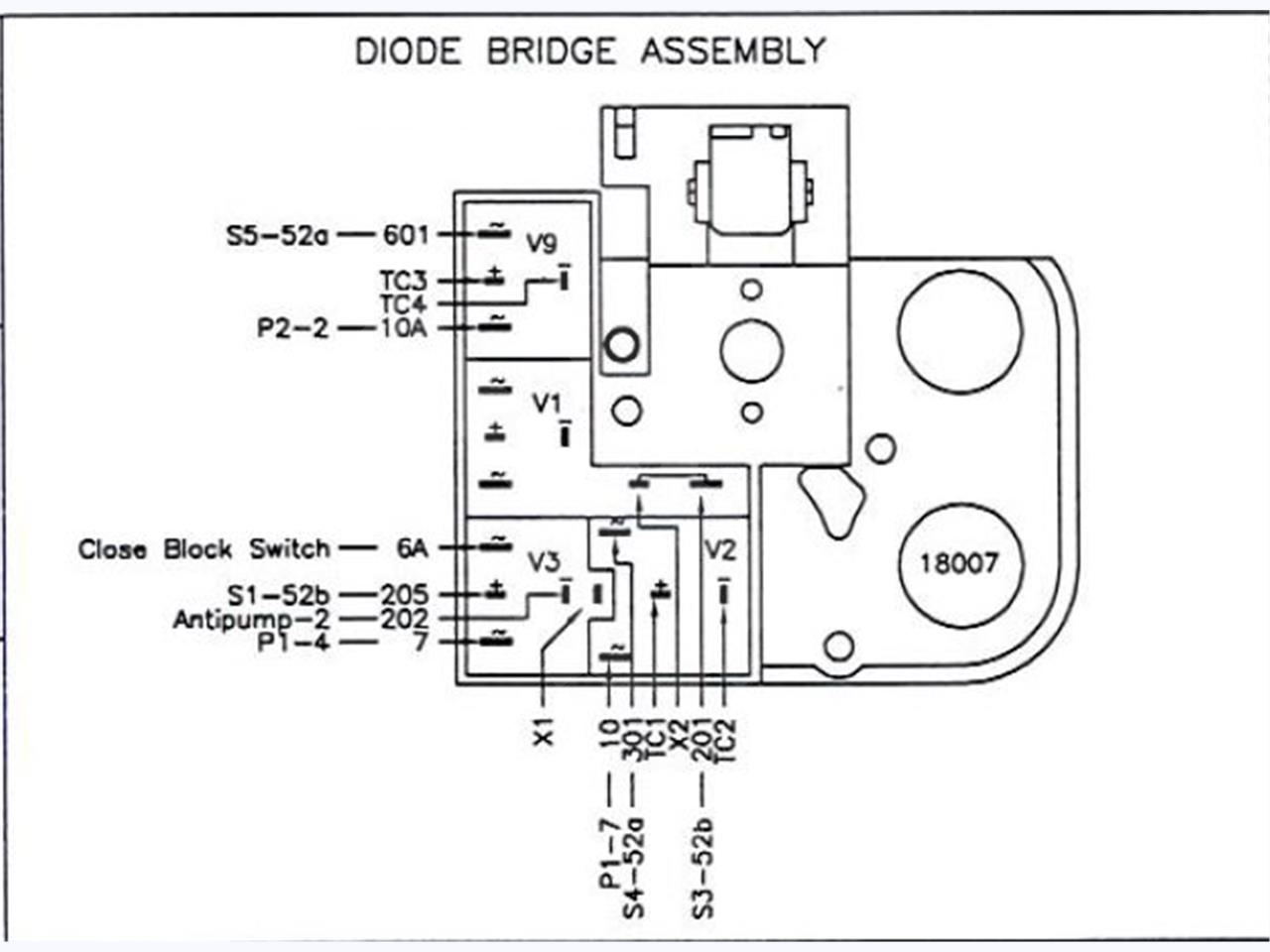 ABB / ITE / BBC ABB MAGNETIC SUPPORT DIODE BRIDGE