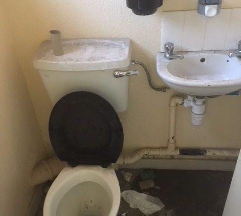 No hot water in welfare facilities