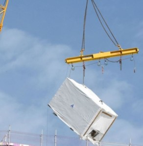 Prefabricated load dropped suddenly