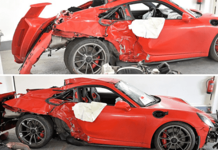 Car smashed while under the influence of cocaine
