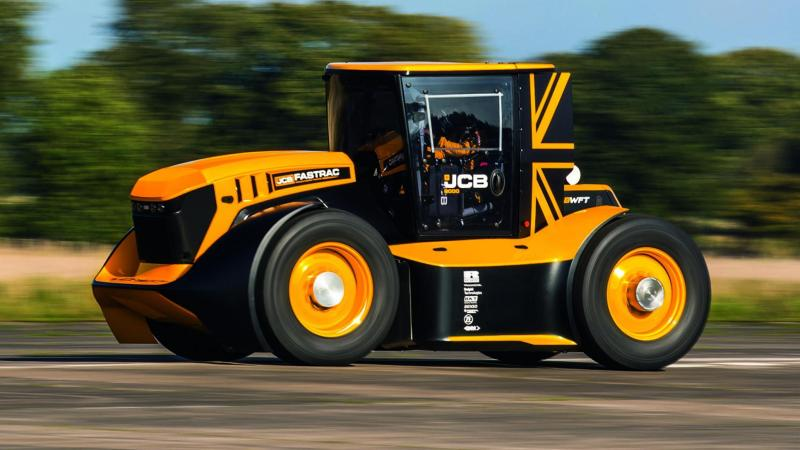 The new JCB built at the stafford based company is the fastest in the world