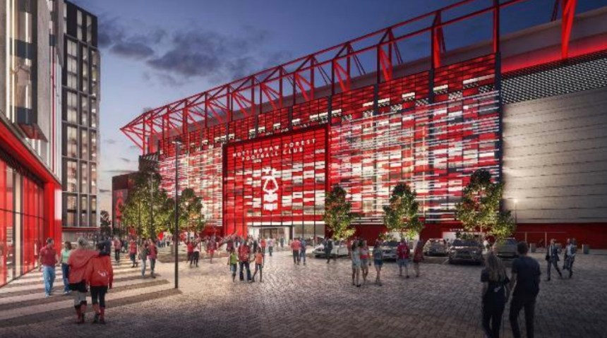 Artists impression of Peter Taylor Stand