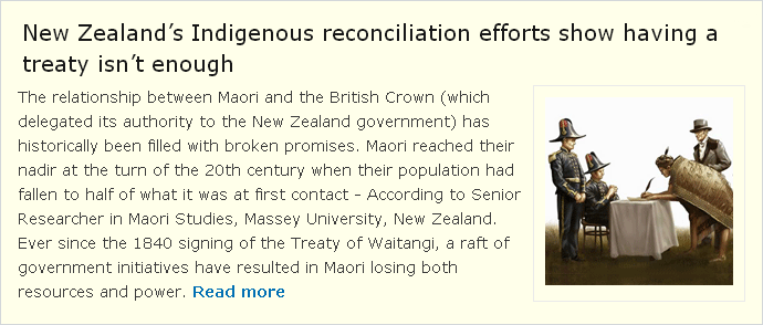 NZ experience is tha a Treaty is not enough