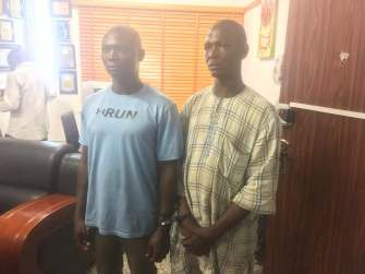 Image result for Father, son arrested for selling drugs to pupils