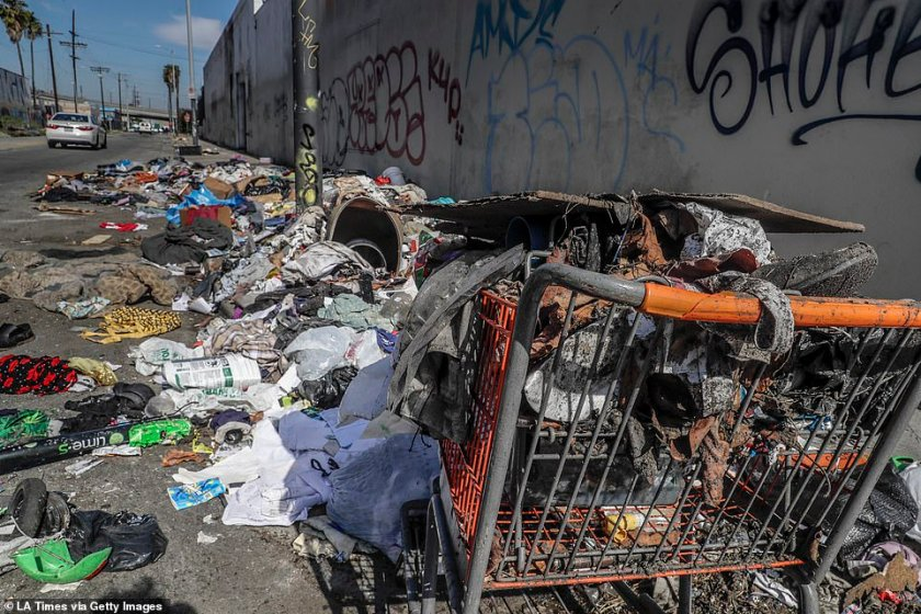 'In the interim, it is our hope that at least this provides some legal guardrails both for houseless people on the street as well as those public servants who are paid to treat the public humanely and responsibly' the spokesman added. Piles of trash remain at the corner of Compton Ave and E 16th St., downtown